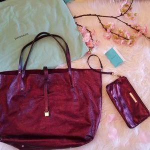 💎RARE💎TIFFANY & Co. Tote and Wristlet Set